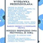 WYPRAWKA PRZEDSZKOLAKA_
